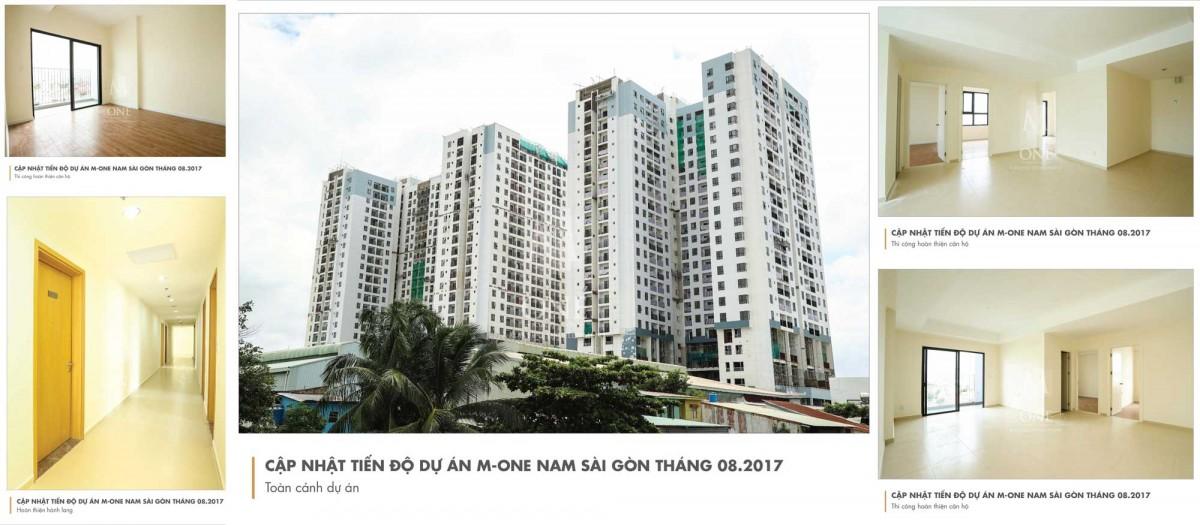 Cập nhật tiến độ thi công căn hộ M-One tháng 8-2017
